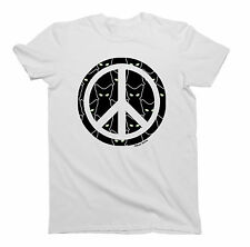 Mens/Ladies T-Shirt PEACE Sign CATS Unisex Birthday Gift by Buzz Shirts