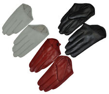 Sex Lady 5 Fingers Half Palm Genuine Leather Gloves Stage Gloves Black Red White