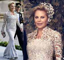 Custom Long Sleeve Mother of the Bride Dress Plus Size Lace Evening Formal Gowns