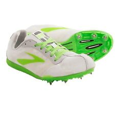 New Womens Brooks PR LD Long Distance 4:48 Track Spikes White/Neon Green