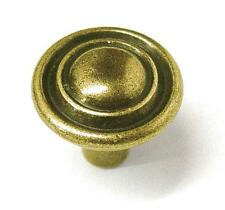 "Lot of 10 Antique Brass  Knobs 1"" Diameter Small Furniture Drawer Pull Crafts"