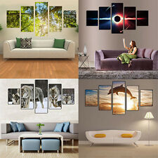 5 Pcs Wall Art Decorative Paintings No Frame Posters Home Decor Room Exotic