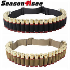 12GA 27Round Military Tactical Shotgun Bandoliers Belt Bullet  Ammo Pouch Holder