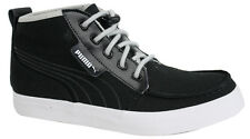 Puma Hawthorne Mid Top Mens Bungee Cord Black Canvas Trainers 352971 02 P1