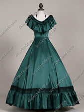 Victorian Old West Dress Saloon Masquerade Gown Theater Reenactment Clothing 127