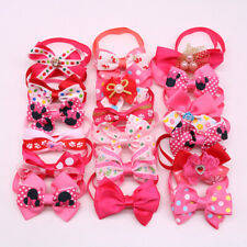 Girls Bow Tie Pet Dog Cat Bowties Mix 16Styles Collar Adjustable Bow Tie Bowknot