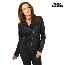Urban Classics Ladies Ladies' Jacket Biker Faux leather XS S M L XL NEW