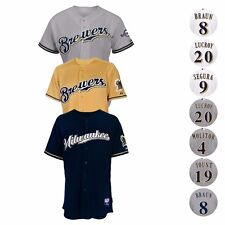 Milwaukee Brewers Authentic On-Field MAJESTIC Cool Base Jersey Collection Men's