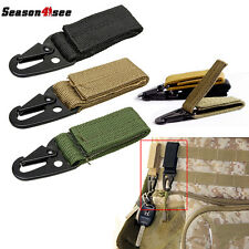 Molle Tactical Accessory QD Buckle Durable Nylon Hook Keychain for Vest Backpack