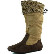 Trendy Round Toe Mid High Boots Shoes
