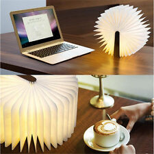 Foldable USB Reading Book LED Night Light RechargeableTable Lamp Desk Booklight