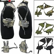 Universal Pistol Pouch Shoulder Strip Holster Left/Right Hand Security Tactical