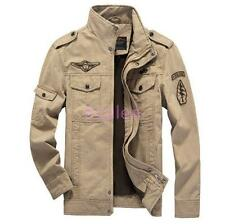 Mens Stand Collar Military Coats Casual Outwears Fashion Causal Jackets Sz 4XL