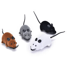 Wireless Simulation Plush Mouse RC Electronic Rat Mouse Mice Toy For Pet Cat TB