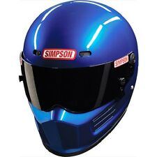 SIMPSON SUPER BANDIT HELMET SNELL SA2015 BLUE METALIC COLOUR MSA M6 FIA