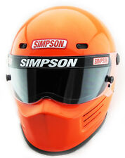 SIMPSON SUPER BANDIT HELMET SNELL SA2015 SAFETY ORANGE FLU COLOUR MSA M6 FIA