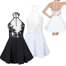 Fashion Lady Women Casual Cocktail Party Evening Backless Lace Short Mini Dress