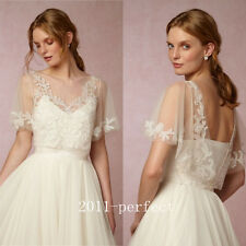 2017 Summer White Ivory Lace Wedding Jackets Cloaks Bridal Wraps Boleros Custom