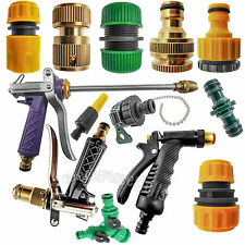 Garden Lawn Car Water Hose Pipe Fitting Tap Adaptor Connector Spray Nozzle LOT