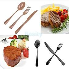 3pcs Knife Fork Spoon Set Stainless Steel Flatware Kitchen Cutlery Dining Gift