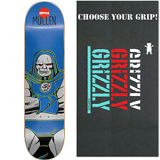 ALMOST X DC COMICS DARKSEID Skateboard Deck MULLEN 8.1 with GRIZZLY GRIPTAPE