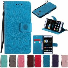 Fashion 3D Flower Flip Leather Wallet Stand Case Cover For Huawei Ascend P8 P9
