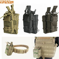 Spanker Tactical Molle Belt Waist Bag Double Rifle Magazine Pouch Bag 4Colors