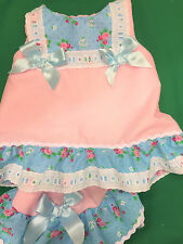 DREAM SPANISH ROMANY SUMMER A LINE DRESS PANTS  0 TO 18 MONTHS OR REBORN DOLLS