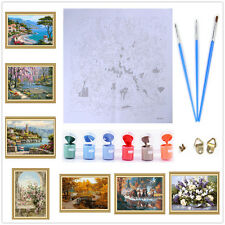 Frameless Paint By Number DIY Oil Painting Canvas Kits Decorative Wall Picture K