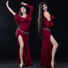 New arrival women Belly Dance Costumes Practice Club Stage Long Dress Modal M L