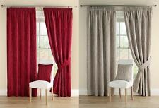 One Pair Of MONTGOMERY High Quality Chenille Meadow Lined Pencil Pleat Curtains