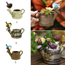 Miniature Bird Flower Pot Dollhouse Bonsai Garden Micro Landscape Decor 3 Colors