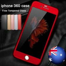 360 0.3 Full Body Hybrid Hard Case Cover + Tempered Glass For iPhone 6 6s 7 Plus