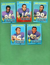 1971 Topps Football MINNESOTA VIKINGS Near Team Set Lot