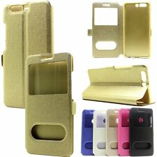Wallet Flip PU Leather View Window Stand Phone Case Cover For Huawei Ascend P10