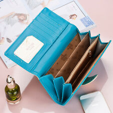 Long Clutch PU Leather Wallet Card Handbag Checkbook Coin Bag Purse women