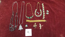 Mixed Lot Of Costume Jewelry Neckalces, Earrings, Pins, Some vintage/Modern !