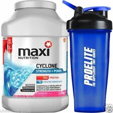 Maximuscle Cyclone 1.26kg 1260g All In One - Strawberry + FREE Shaker