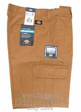 New Mens Dickies Cargo Short Cell Phone Pocket Relaxed Fit Black Khaki 30 32