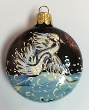 Majestic Swans Russian Ceramic Christmas Ornament Decoration