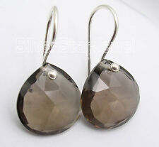 925 Pure Silver BROWN SMOKY QUARTZ, CHALCEDONY & Other Stones Variation Earrings