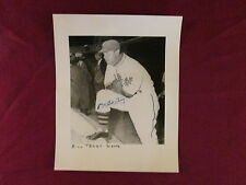 Hand Signed Autograph 8x10 Black & White Photo Bill Terry New York Giants