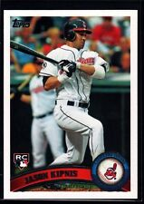 "JASON KIPNIS MINT INDIANS ROOKIE CARD RC SP 2011 TOPPS UPDATE CLEVELAND ""GEM"""