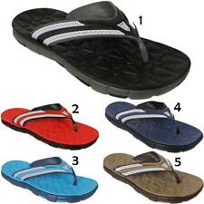 Mens Slip On Comfort Casual Summer Beach Holiday Slippers Sandals Flip Flops UK