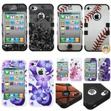 Impact Dual Layer TUFF Hybrid Hard Skin Phone Case Cover For APPLE iPhone 4 4S