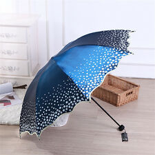 Womens Ladies Folding Sun Rain UV Protection Umbrella Travel Vintage Parasol