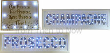 Gold White LED Light Up Plaque Wall Mountable Sign Free Standing Party Bar Lamp