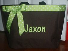 Personalized Diaper Bag Tote Monogrammed