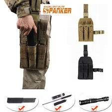 Spanker Tactical Leg Pouch Triple Magazine Pouch Paintball Airsoft Mag Holster