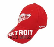 Reebok NHL Detroit Red Wings Fitted Hat Cap One Size